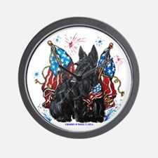 All American Scottie Wall Clock