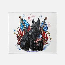 All American Scottie Throw Blanket
