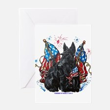 All American Scottie Greeting Cards