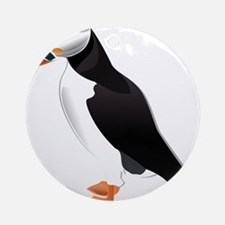 Puffin md clip art Round Ornament