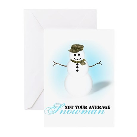 Camoflauge Snowman Greeting Cards (Pk of 10)