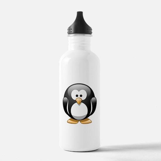 Cartoon penguin clip a Water Bottle