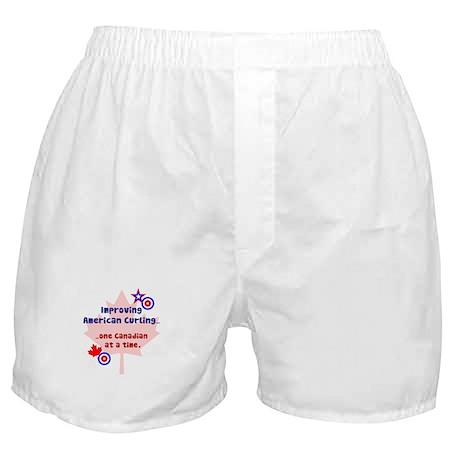 """US-CA Curling"" Boxer Shorts"