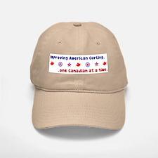 """""""US-CA Curling"""" Baseball Baseball Cap"""