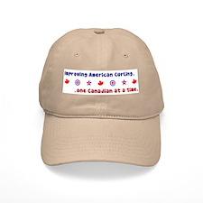 """""""US-CA Curling"""" Baseball Cap"""