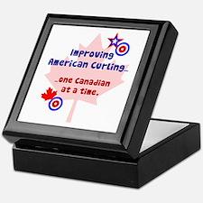 """US-CA Curling"" Keepsake Box"