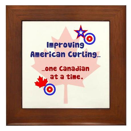 """""""US-CA Curling"""" Framed Tile"""