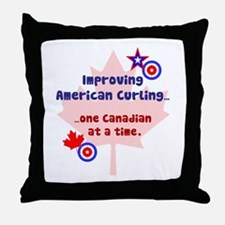 """US-CA Curling"" Throw Pillow"
