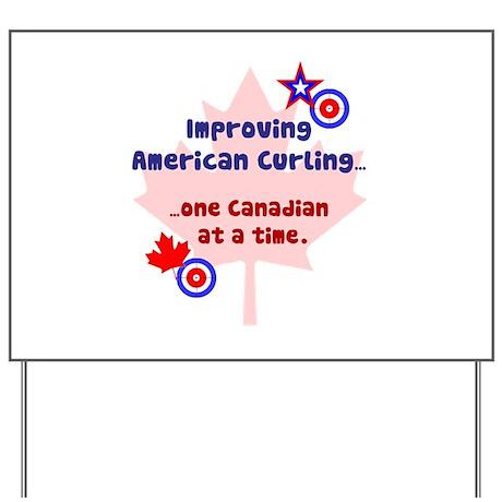 """US-CA Curling"" Yard Sign"