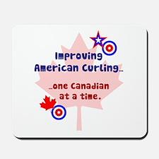 """US-CA Curling"" Mousepad"