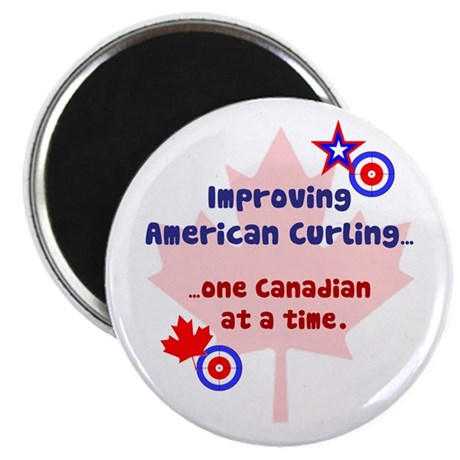 """US-CA Curling"" Magnet"