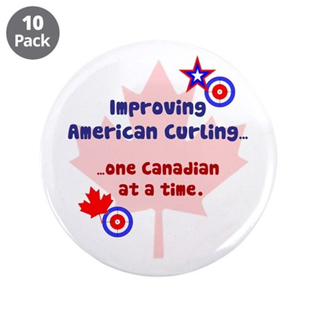 """""""US-CA Curling"""" 3.5"""" Button (10 pack)"""
