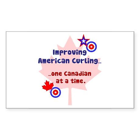 """US-CA Curling"" Rectangle Sticker"