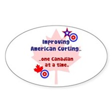 """""""US-CA Curling"""" Oval Decal"""