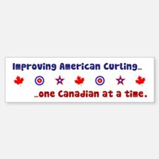 """US-CA Curling"" Bumper Bumper Bumper Sticker"