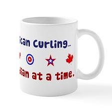 """""""US-CA Curling"""" Small Mugs"""