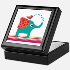 Cute elephant bird Keepsake Box