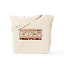 Weekly Evolution Tote Bag
