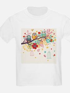 Cartoon bird card background T-Shirt