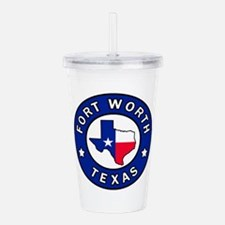 Fort Worth Texas Acrylic Double-wall Tumbler