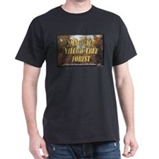 Magical Yellow Tree Forest T-Shirt