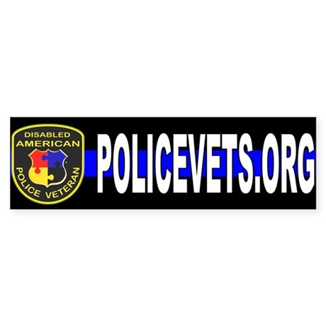 Policevets DAPV Bumper Sticker