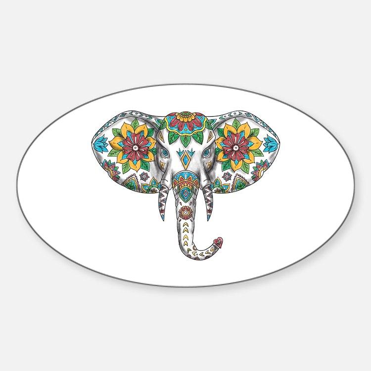 Elephant Head Mandala Tattoo Decal