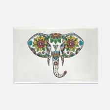Elephant Head Mandala Tattoo Magnets