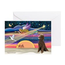 XmasStar/Poodle (STC) Greeting Card