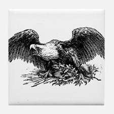 War eagle clip art Tile Coaster