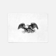 War eagle clip art 5'x7'Area Rug