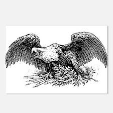 War eagle clip art Postcards (Package of 8)