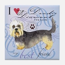 Dandie Dinmont Tile Coaster