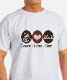 Peace Love Run 26.2 Marathon T-Shirt