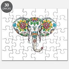 Elephant Head Mandala Tattoo Puzzle