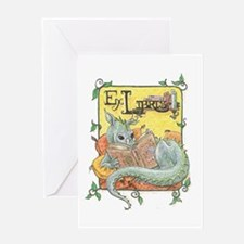 Dragon Reader Greeting Card