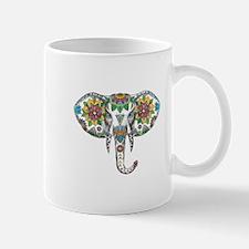 Elephant Head Mandala Tattoo Mugs
