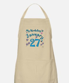 January 27th Birthday BBQ Apron
