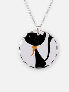 Funny black cat design Necklace
