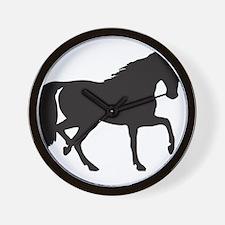 Horse silhouette clip art Wall Clock