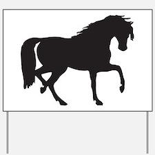 Horse silhouette clip art Yard Sign