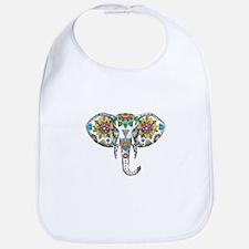 Elephant Head Mandala Tattoo Baby Bib