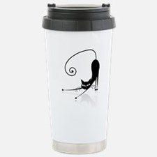 Funny black cat design Travel Mug