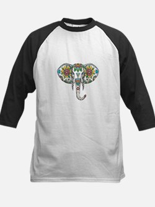 Elephant Head Mandala Tattoo Baseball Jersey