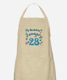 January 28th Birthday BBQ Apron