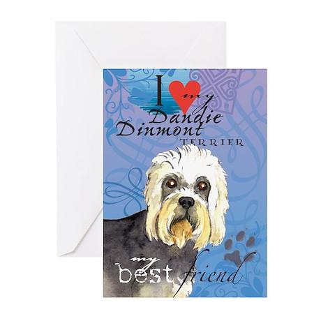 Dandie Dinmont Greeting Cards (Pk of 10)