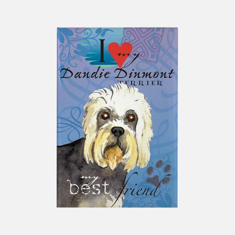 Dandie Dinmont Rectangle Magnet