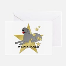 Weimaraner Stars Greeting Card