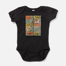 Cute Jurassic park Baby Bodysuit