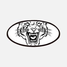 Angry tiger silhouette head Patch